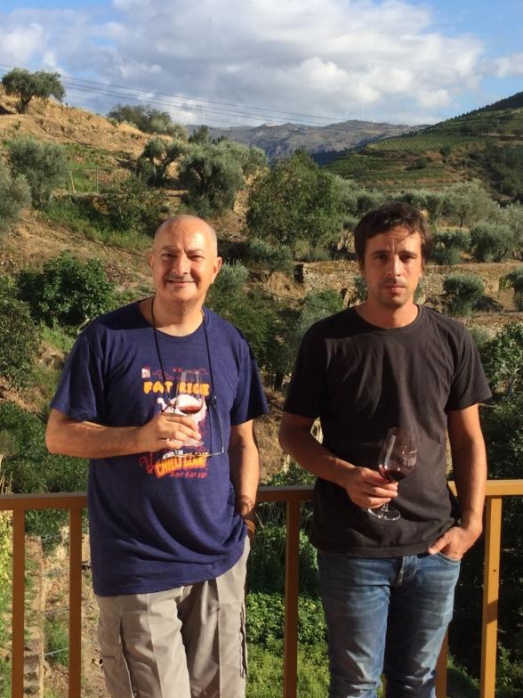 João und Álvaro Roseira auf der Quinta do Infantado